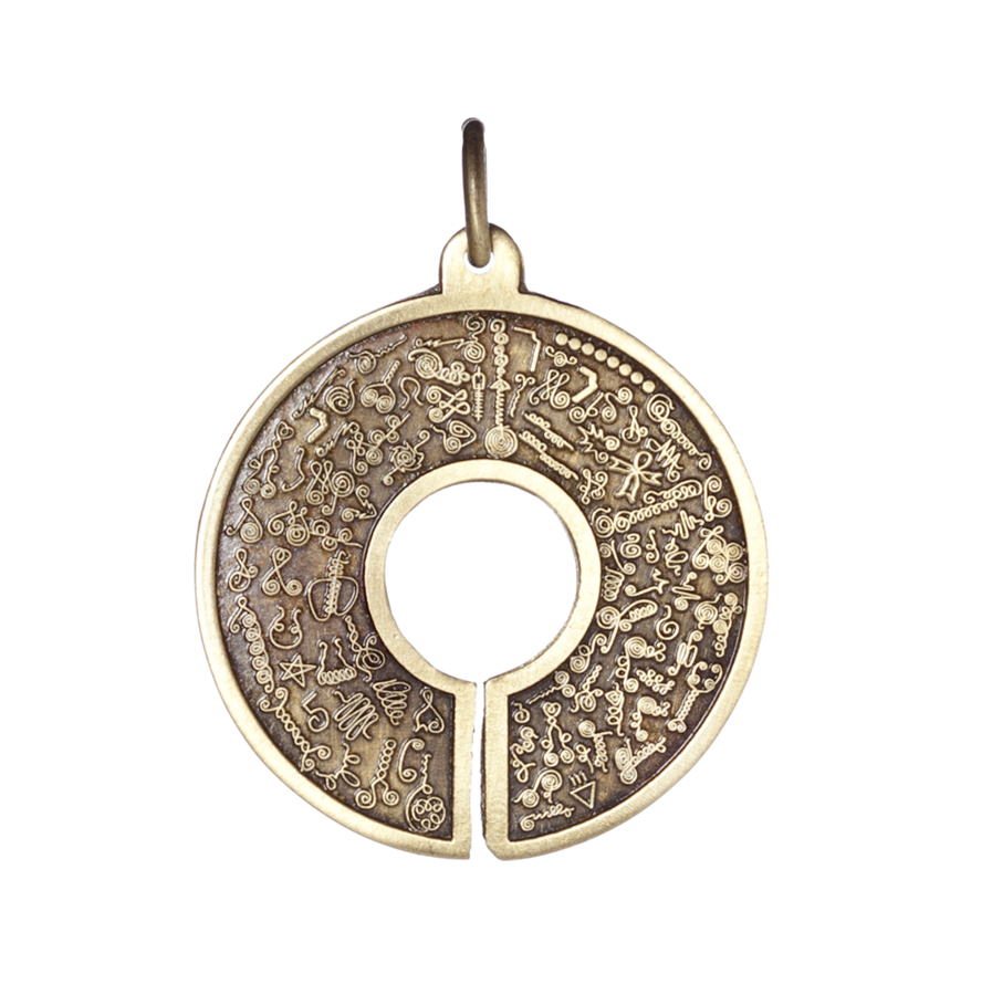 Pendentif BioSignatures bronze doré